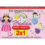 Candy Bar Kit Imprimible Hadas Haditas (2x1)cotillon Tarjeta