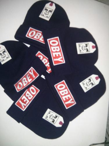 Touca Gorro Obey Azul Skate Top Quality Pronta Entrega - R  35 1f5f2b063d5
