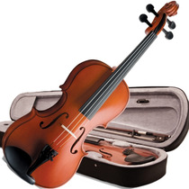Violino 3/4 Vogga Von134 Crina Animal Estojo Breu