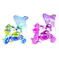 Triciclo Infantil C/capota 2x1,música/luzes! Vira Gangorra!