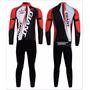 Conjunto Calça Acolchoado Camisa Manga Longa Ciclismo Bike