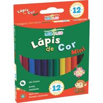 Lápis De Cor Escolar 12 Cores Curto - Leonora - 20 Caixas