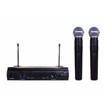 Microfone Duplo Uhf Sem Fio Profissional Padrão Shure