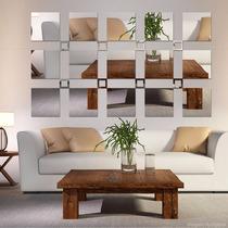 Espelho Decorativo Acrílico 1,90x1,10m Quadrados Grande