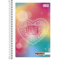 Caderno Flexível 10 Mat 200 Fls Mais+ Feminino Love 2016