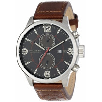 Reloj Tommy Hilfiger, Correa Cuero, 2 Subdiales. Fechero New