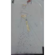 Croqui -vestido Feminino Alta Costura Longo