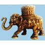 Escultura Antiga Em Bronze Centro De Mesa Elefante