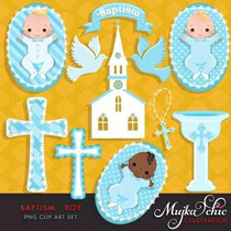 Kit Imprimible Angelitos Bautismo Nene 5 Imagenes Clipart