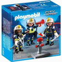 Playmobil 5366 Set De Bomberos Con Equipo Original Intek