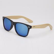 Óculos De Sol De Madeira/bambu 10% Off Queima Total Verão