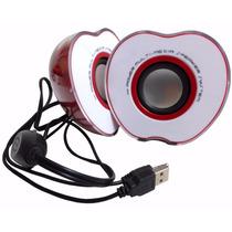 Bocinas Portatiles De Manzana Usb Y Audio 3.5
