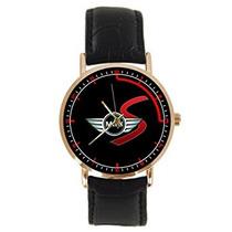 Reloj Del Cuero De Negro Mini Cooper Adulto Logotipo De En