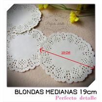 100 Blondas Medianas 19 Cm Para Conos