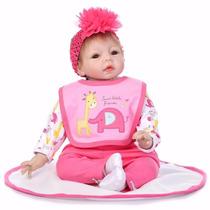 Bebê Reborn 55 Cm Boneca Barata Com Detalhes Reais Promoção