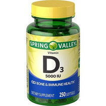 Spring Valley Vitami D3 Na 5000 Iu Envios Inmediatos 250 Pzs