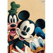 Camiseta Baby Look Manga Curta Mickey Pateta Pato Donald