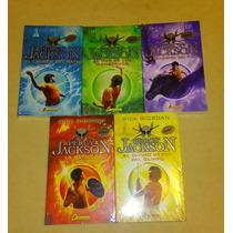 Percy Jackson Y Los Dioses Del Olimpo 5 Libros En Español!