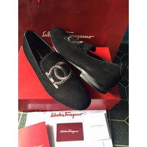 Zapatos Mocasines Salvatore Ferragamo Alpargatas Con Caja