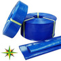 Manguera Manga Plana Pvc Desagote Riego Azul 32 1 1/4 X 25mt