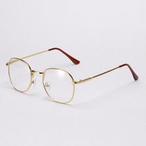Óculos De Armação De Metal De Grau Unissex Dourada Ou Prata