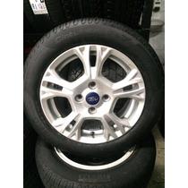 Roda Aro 15 New Fiesta Com Pneu 195/55 R15 Pirelli P7