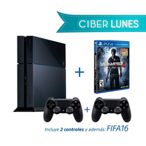 Playstation 4 + Uncharted4 + Fifa16 + 2 Controles Ds4