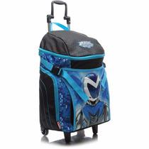 Mochila De Rodinha Infantil Sestini G 16z Azul Max Steel