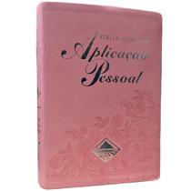 Bíblia De Estudo Aplicação Pessoal Média Rosa Luxo Lançament