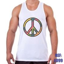 Camiseta Regata Símbolo Da Paz Academia Malhação Musculação