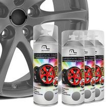 Kit Spray Envelopamento Líquido Rodas Prata