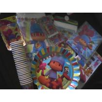 Combo De Fiesta Infantil Pocoyo 164 Piezas Pocoyo