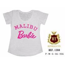 T-shirt Camiseta Personalizada Feminina Malibu Barbie