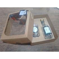 50 Kit Mini Vinho Personalizado Garrafa E Copinho De Vidro