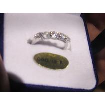 Anillo Compromiso Swarovski Alianza Oro 18k Con Diamantes