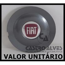 Calota Tampa Miolo Centro Roda Fiat Bravo Absolute Grafite