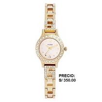 Reloj Dorado Guess Dama Original Nuevo
