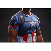 Camisa De Compressão Térmica Capitão America Importada!