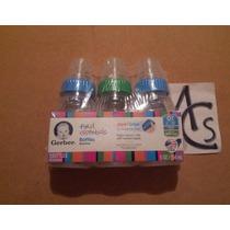 Set 3pack Teteros Gerber Esenciales 5 Oz Silicon Anticolicos