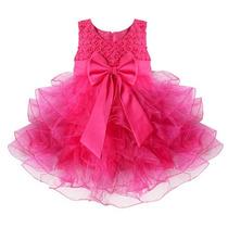 Vestido Bebe Nena Fiesta Cumpleaños Casamiento Cortejo 18-24