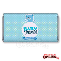Etiquetas Para Chocolate Baby Shower Osito - Pdf Imprimible