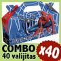Spiderman Hombre Araña Cajita Valijita Bolsita Combo X40