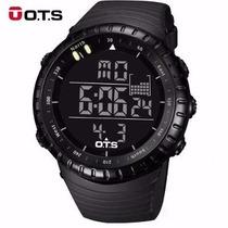 Relógio Ots Digital Corrida Esportivo Mergulho Shock