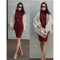 Vestido Corto Casual Formal Otoño-invierno Moda Japonesa