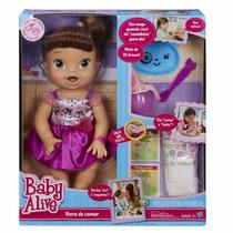 Baby Alive Hora De Comer Cabelos Castanhos Hasbro