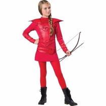 Disfraz Hunger Games Katniss Rojo Para Niñas Envio Gratis