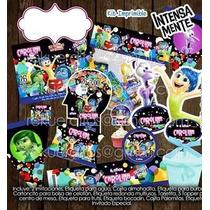 Kit Imprimible Intensamente Fiesta Piñata Bolo Invitaciones