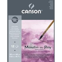 Bloco Papel Aquarela Algodão Canson Moulin Du Roy 30x40cm Ts