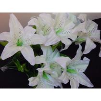 Buque De Lirios Artificiais 9 Flores 60 Cm - Consulte Frete