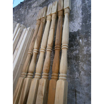 Columna De 6 X6 X 3,00 Mts Torneada En Madera Dura